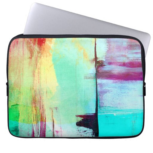 Colorful Paint Abstract Laptop Sleeve