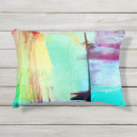 Colorful Paint Abstract Outdoor Pillow