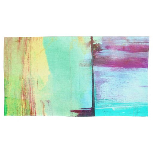 Colorful Paint Abstract Pillow Case