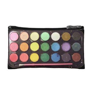 Colorful Paint Box Rainbow Cosmetic Bag