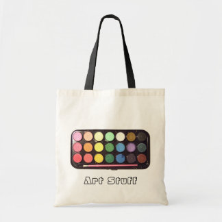 Colorful Paint Box Rainbow Canvas Bag