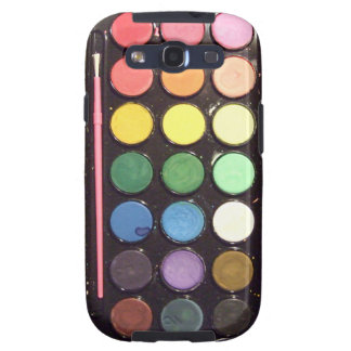 Colorful Paint Box Rainbow Galaxy SIII Cases