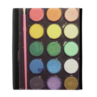Colorful Paint Box Rainbow iPad Folio Cover