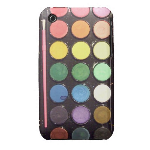 Colorful Paint Box Rainbow iPhone 3 Case-Mate Cases