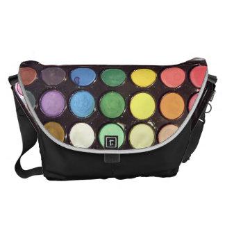 Colorful Paint Box Rainbow Courier Bag