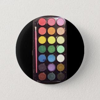 Colorful Paint Box Rainbow Pinback Button