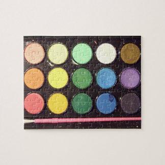 Colorful Paint Box Rainbow Puzzle