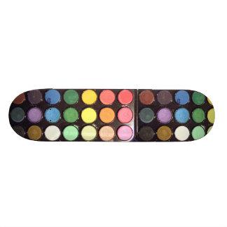 Colorful Paint Box Rainbow Skateboard