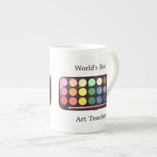 Colorful Paint Box Rainbow Porcelain Mugs