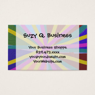 Colorful Paint Doodle Lines Converging Pin Wheel Business Card