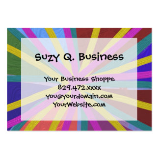 Colorful Paint Doodle Lines Converging Pin Wheel Business Card Templates