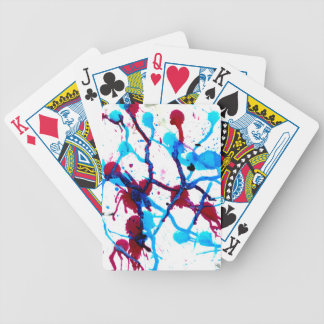 Colorful Paint Drips 10 Bicycle Playing Cards