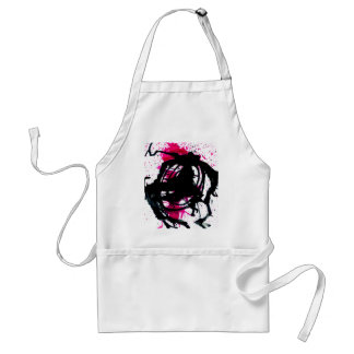 Colorful Paint Drips 11 Adult Apron