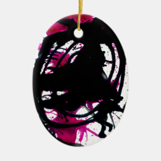 Colorful Paint Drips 11 Ceramic Ornament
