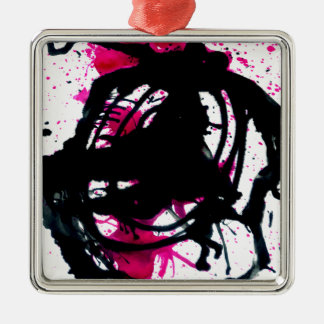 Colorful Paint Drips 11 Metal Ornament