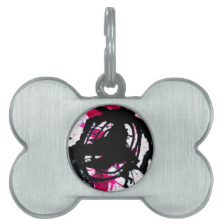 Colorful Paint Drips 11 Pet ID Tag