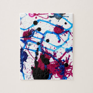 Colorful Paint Drips 12 Jigsaw Puzzle