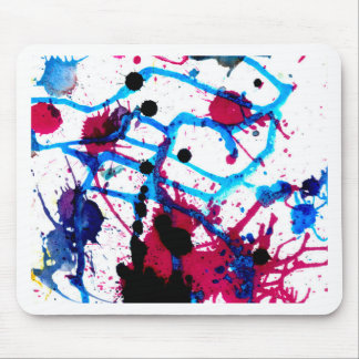 Colorful Paint Drips 12 Mouse Pad