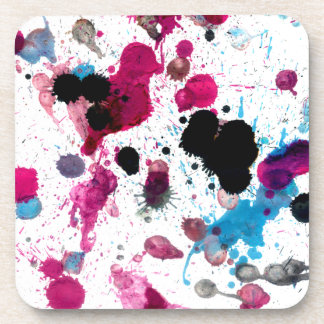 Colorful Paint Drips 13 Coaster