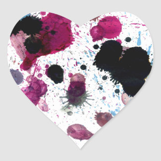 Colorful Paint Drips 13 Heart Sticker