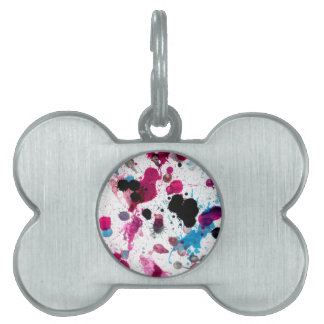 Colorful Paint Drips 13 Pet ID Tag