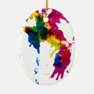 Colorful Paint Drips 2 Ceramic Ornament