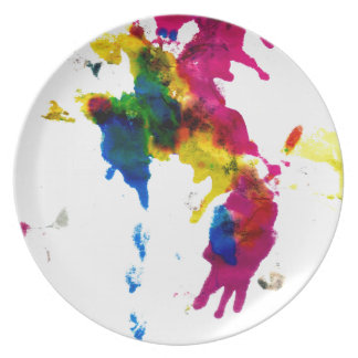 Colorful Paint Drips 2 Melamine Plate