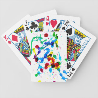 Colorful Paint Drips 4 Bicycle Playing Cards