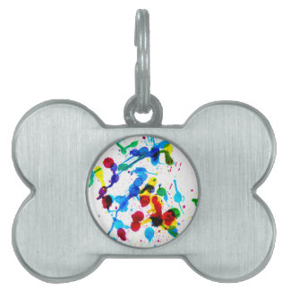 Colorful Paint Drips 4 Pet ID Tag