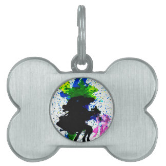 Colorful Paint Drips 5 Pet ID Tag