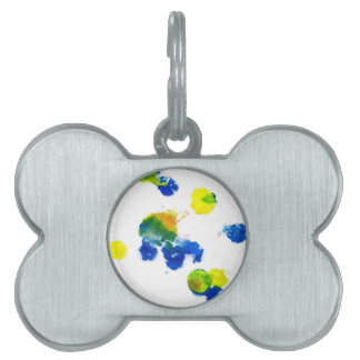 Colorful Paint Drips 6 Pet ID Tag