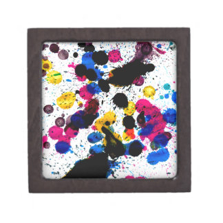 Colorful Paint Drips 7 Keepsake Box