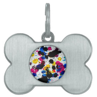 Colorful Paint Drips 7 Pet Tag