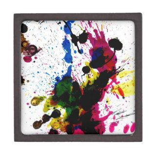 Colorful Paint Drips 8 Keepsake Box