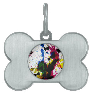 Colorful Paint Drips 8 Pet Name Tag