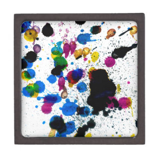 Colorful Paint Drips Jewelry Box