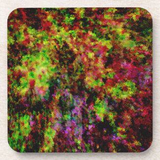 Colorful Paint Explosion Drink Coaster