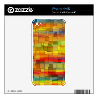 COLORFUL PAINT RAINBOW 10 DECALS FOR THE iPhone 4S