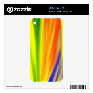 COLORFUL PAINT RAINBOW 2 SKIN FOR iPhone 4
