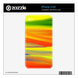 COLORFUL PAINT RAINBOW 5 SKIN FOR iPhone 4