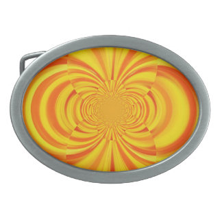 COLORFUL PAINT RAINBOW Abstract Art Belt Buckle