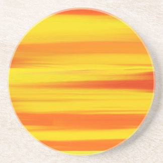 COLORFUL PAINT RAINBOW Abstract Art Coaster