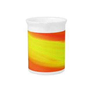 COLORFUL PAINT RAINBOW ART 2 DRINK PITCHER