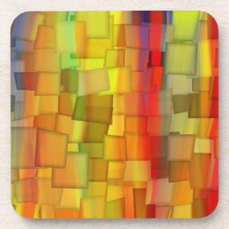 COLORFUL PAINT RAINBOW ART 7 BEVERAGE COASTER