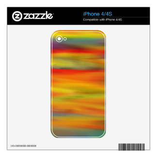 COLORFUL PAINT RAINBOW ART DECALS FOR iPhone 4