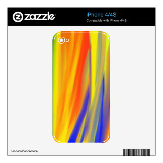 COLORFUL PAINT RAINBOW SKIN FOR THE iPhone 4