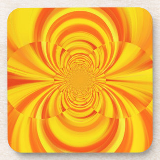 COLORFUL PAINT RAINBOW Swirl Abstract Art Coaster