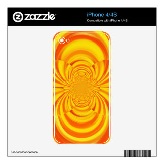 COLORFUL PAINT RAINBOW SWIRL ART iPhone 4 DECAL