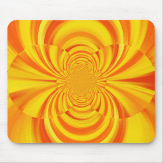 COLORFUL PAINT RAINBOW SWIRL MOUSE PAD