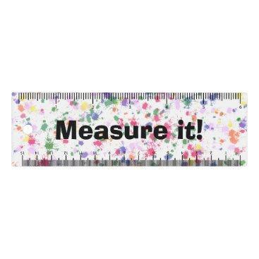 Beach Themed Colorful Paint Spatter Ruler